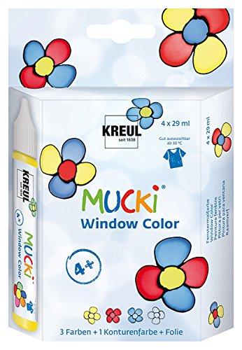KREUL MUCKI 24450-b-Window Color Set, Producto y Pantalla, 4x 29ml