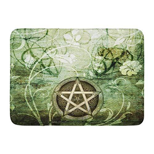 ziHeadwear Ablitt Bath Mat Wiccan Wicca Rustica Woodland Pagan Witch Handfasting Wedding Bathroom Decor Rug 16