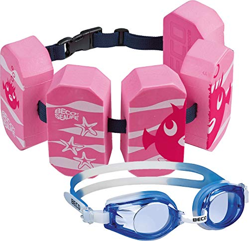 Beco Schwimmgürtel (pink + Schwimmbrille blau)