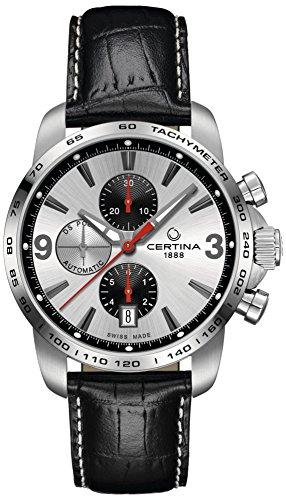 Certina Herren-Armbanduhr XL Chronograph Automatik Leder C001.427.16.037.01