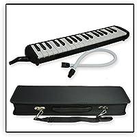 Tuyama® TMD-137 Melodica Negro Con boquilla y manguera de soplado, Incluye una bolsa para transporte (37 teclas)