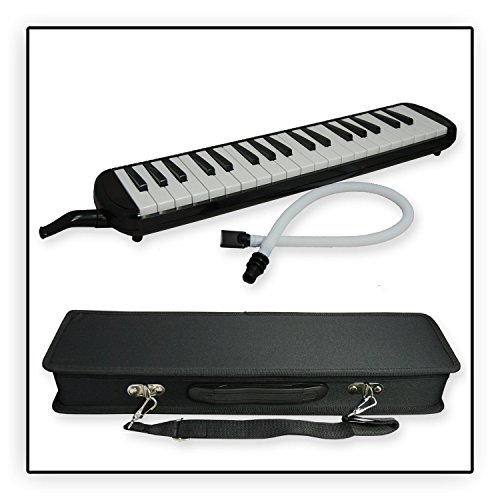 Tuyama® TMD-137 Melodica Melodika (37 Tasten) schwarz + 2 Mundstücke + Koffer