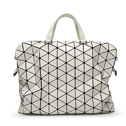 Frauen Geometrische Pailletten Spiegel Handtaschen Japan Stil Laptoptasche Casual Totes Weiblicher Geldbeutel Umhängetaschen Big White