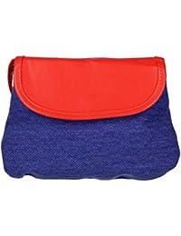 Antonio Sac à bandoulière femme jeans, Sac à bandoulière, sac, überschlagtasche (B/H/T): 22x 17x 2,5cm