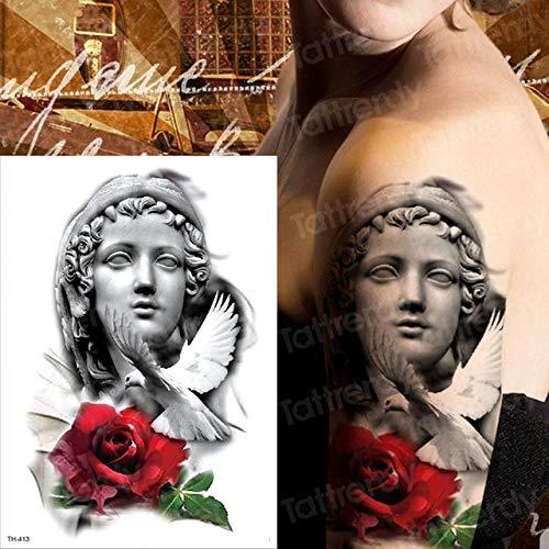 HXMAN Löwe Temporäre Tattoo Mann Arm Tattoo Körper Tattoo Schwalbe Pfoten Tato Schwarz Gefälschte Tatto Für Mann Schädel Halloween Tattoo Boy (2 Packungen) - Metall Schädel Biker Kostüm