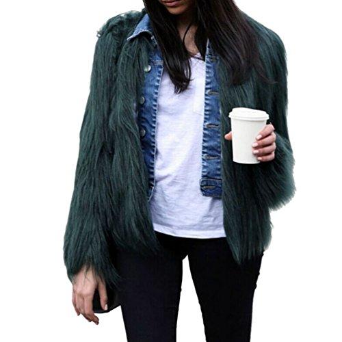 Yilianda giacca corto giaccone pelliccia sintetica donna cappotto maniche lunghe l