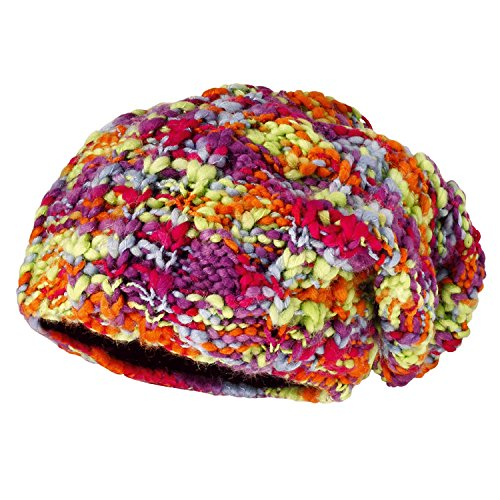Maximo Beanie, Middle - Bonnet - Fille Multicolore (Dunkelpink/Multicolor 5799)
