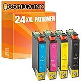 Gorilla-Ink® 24x Drucker-Patrone XXL für Epson GI0711-GI0714 Stylus SX 110 SX 115 SX 200 SX 205 SX 210 SX 215 SX 218
