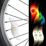 Speichenlicht 2er Set - Speichen - Reflektoren - Speichenreflektoren - Speichenstrahler - Speichenlicht