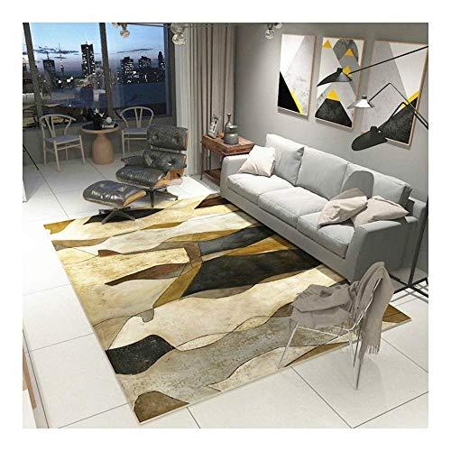 ch Zickzack Schwarz und Weiß Linien 3D Gedruckter Teppich mit hoher Dichte Geeignet für Familien Wohnzimmer Schlafzimmer, 120Cm (H) X 160Cm (W) ()