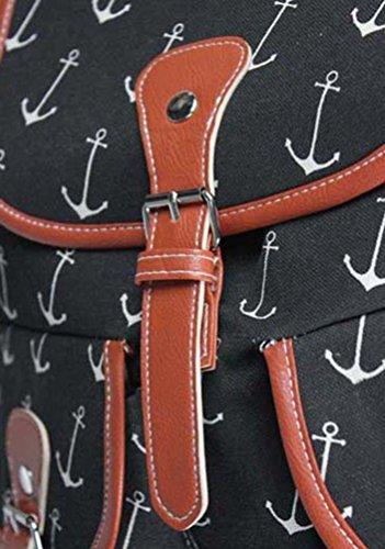 YiLianDa Damen Mädchen Casual Vintage Canvas Haltbare Segeltuch Taschen Reisetaschen Schultaschen Rucksack C