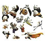 JUNMAONO Braun Kung Fu Panda Wandaufkleber/Abnehmbare Wandbild Aufkleber/Wandgemälde/Wand Poster/Wandbild Aufkleber/Wandbilder/Wandtattoo/Pinupbild/Beschriftung/Pad einfügen/Tapete/Tapezieren/Tapeten/Wand Zeitung/Wandmalerei Haftnotiz/Fühlen Sie sich frei zu kleben/Instant Aufkleber/3D-Stereo-Wandaufkleber