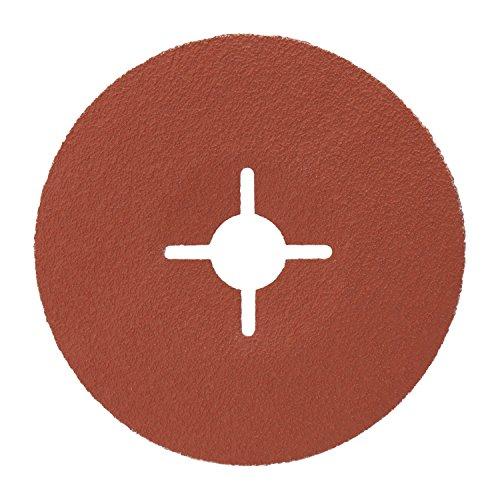 3M Cubitron II Fiberscheibe 987C – Schleifmittel mit Hochleistungs-Keramikkorn für Edelstahl & Metall – 125 mm Vulkanfiber-Schleifscheibe mit 80+ Körnung für Winkelschleifer – 5 Stück