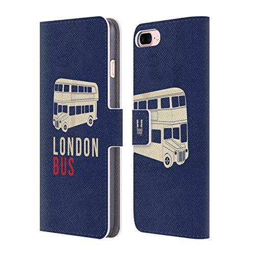 Head Case Designs Reise Das Beste Von London Brieftasche Handyhülle aus Leder für Apple iPhone 6 Plus / 6s Plus London Bus