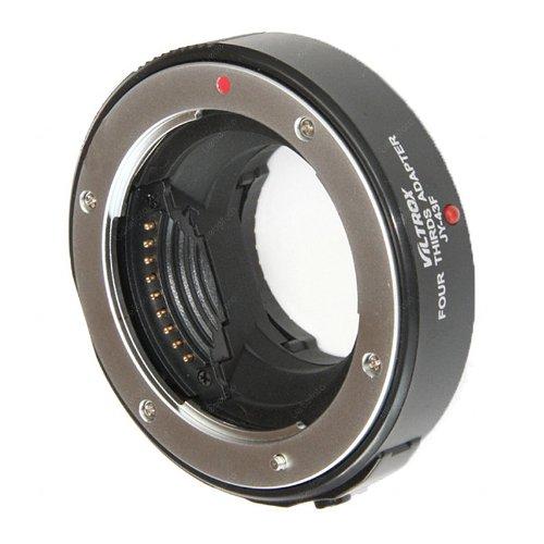 Orig. Viltrox Adapter JY-43F (schwarz) für 4/3 Objektive an M4/3 (Micro Four Thirds) Kameragehäuse wie Olympus MMF-2 MMF-1, für z.B Panasonic G3 G5 G10 GF-3 GH-2 Olympus E-P1 E-P3 E-PL3 (Schwarz Objektiv Kontakt)