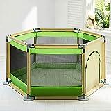 Tao Indoor Baby Boy Spielplätze mit Matte Vielseitig einstellbar waschbar Kinder Kleinkind Laufstall 6-Platten (Farbe : B)