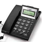 Xia Xia Schnurgebundenes Telefon mit Freisprecheinrichtung/Keine Batterie, Desktop/Wandbehang, Extra Laut (Farbe : Black)