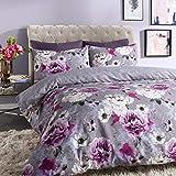 Sleep Down Inky Bloemen Blauw Omkeerbaar Dekbedovertrek en Kussenslopen Beddengoed Set