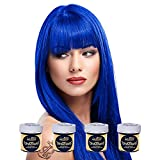 Festival Set: La Riche Directions Haar Tönung 4 Pack (Midnight Blue) + 1x Knicklicht (Blau)