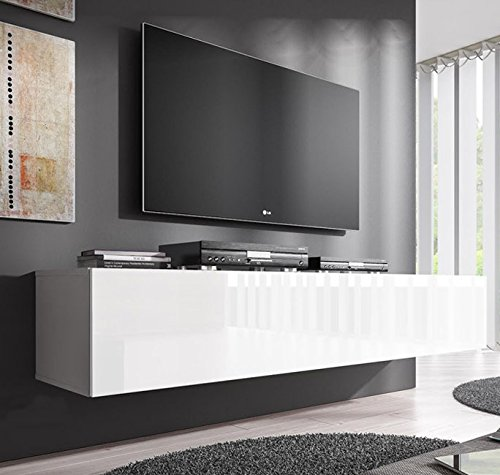 Lettiemobili - Mobile TV modello Forli XL (160 cm) Bianco