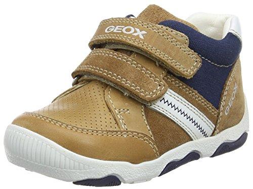 Geox Baby Jungen B New Balu' Boy D Sneaker, Beige (Caramel/White), 24 EU (Patent-high-top-sneaker)