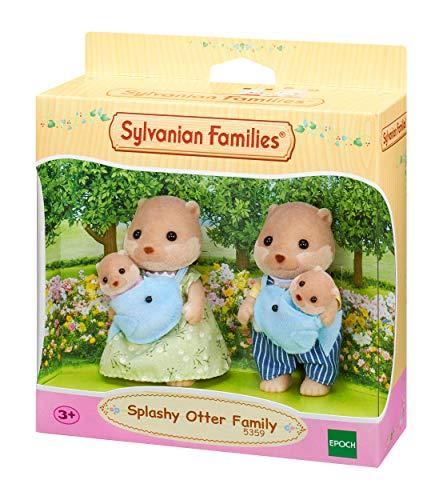 Sylvanian Families 5359 Splashy Otter Family Various, Mehrfarbig