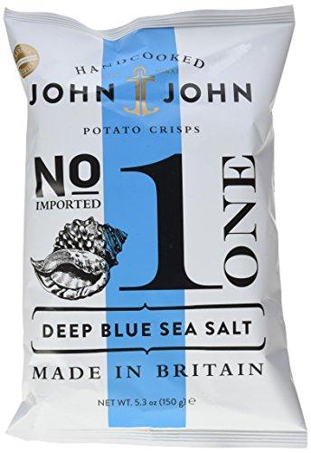 John & John Potato Crisps Deep Blue Sea Salt 150g, 6er Pack (6 x 150 g)