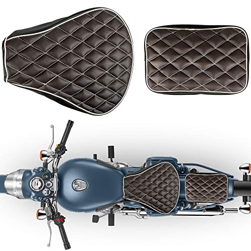 Autofy Diamond Shaped Texture Seat Cover for Royal Enfield Bullet...