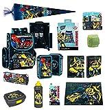 Familando Transformers Schulranzen-Set 20tlg. mit Federmappe, Schreibtischauflage, Regenschutz und Schultüte 85cm PL