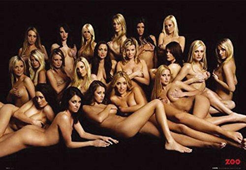 Girls - Zoo Girls - Akt Poster Erotik Poster nackte hot Girls schöne Frauen - Grösse 91,5x61 cm + 1 Ü-Poster der Grösse 61x91,5cm