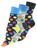 "3 oder 6 Paar knallig bunt gepunktete Damen Socken ""DOT"""