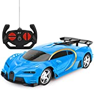 Remote Control Car, RC Cars Gifts for Kids Electric Sport Racing Hobby Toy Car Red/Blue Model Vehicle for Boys