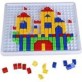 Steckspiel Baukasten Puzzle aus Kunststoff mit Bunt Intelligentes Spielzeug für ab 3 Jahre Alt