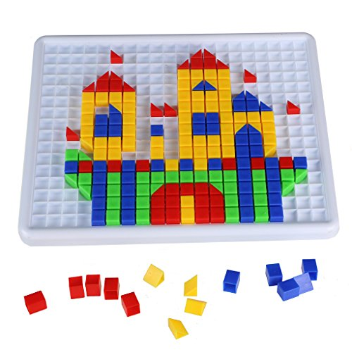 Steckspiele Baukasten Mosaik-Spielzeug aus Kunststoff mit Bunt Intelligentes Spielzeug für ab 3 Jahre Alt (420pcs)