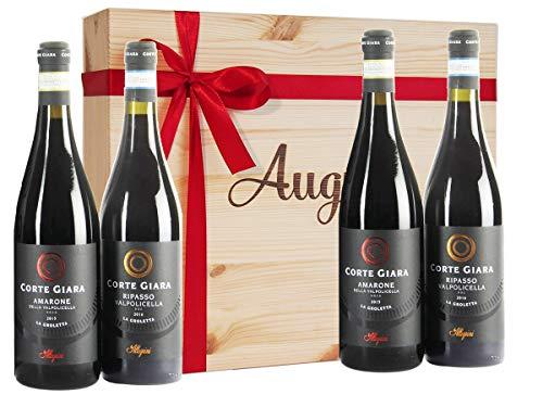 Vini Amarone e Valpolicella Ripasso in Cassetta Legno della Prestigiosa Cantina Allegrini - Cassette Vini Pregiati per Intenditori - cod 163