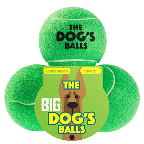 Der Hund Balls die Big Tennisbälle, Premium Hundespielzeug Ball für Hund Apportieren und Spielen, zu groß für Chuckit Launcher, die King Kong von Hund Kugeln, groß, grün, 3Stück