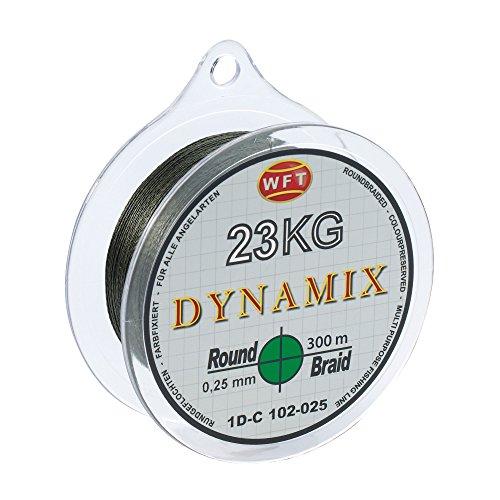 WFT Round Dynamix 300m Angelschnur geflochten rund - 0.20mm - Grün #1D-C 101-020 (Geflochtene Angelschnur Grün)