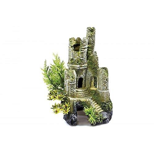 Classic 0930 - Decorazione per acquario da 30 l, rovine castello