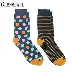 LILIKI@ 5 Paare/Los Baumwolle Frauen Socken Qualität Marke Frühling Herbst Business Strumpfwaren Glücklich Lustige Kleid Weibliche Socken