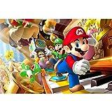 Jigsaw Puzzle Super Mario Galaxy, Poster per Giochi Nintendo, Jigsaw Puzzles, 300/500/1000 Piece per Adulti e Bambini P715 (Color : C, Size : 500pc)