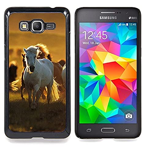 Graphic4You Cheval Animal Design Coque Cache Étui Housse de Protection pour Samsung Galaxy Grand Prime