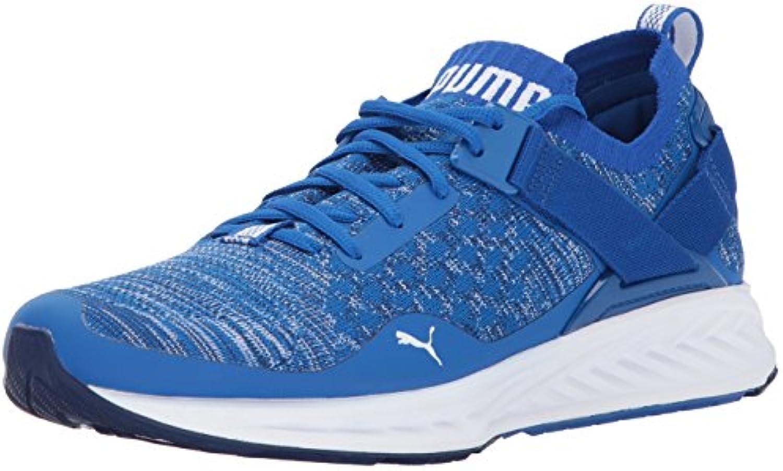 PUMA Men's Ignite Evoknit Lo Sneaker  Lapis Blue Blue Depths White  10.5 M US