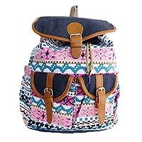 Womens Large Canvas Backpack Ladies Girls Boys School College Student Bag Cabin Travel Rucksack 2607