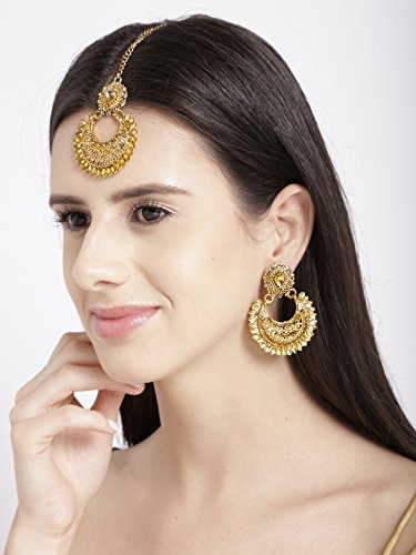 Zaveri Pearls Jewellery Set for Women (Golden)(ZPFK6087)
