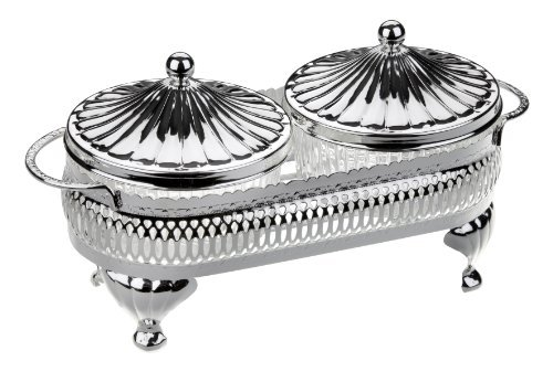 Relish dish Snack Bowls in Silver Plated frame by Queen Anne Queen Anne Silver Plated