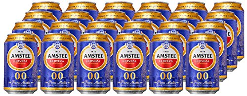 Amstel 00 Beer - Box of 24 Cans x 330 ml - Total: 7.92 L