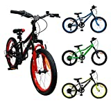 AMIGO - Attack - Bicicletta Bambini - 20'' (per 5-9 Anni) - 6 velocità - Nero/Rosso