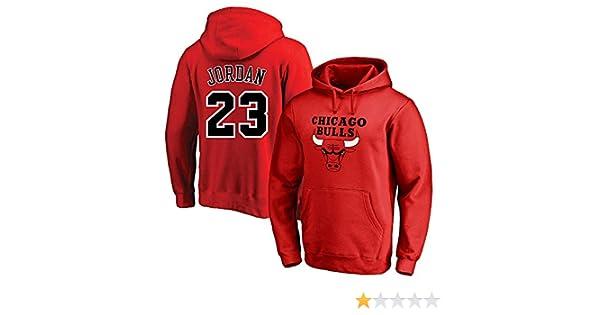 AMJUNM Homme Femme Chandail à Capuche Sweatshirt NBA Chicago