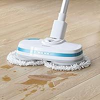 Albohes Fregona eléctrica inalámbrica, Limpiador de suelo con fregona eléctrica inalámbrica Dual Dual Spin, Limpiador de piso ultra silencioso, Electric Mop Floor Cleaner(Blanco)