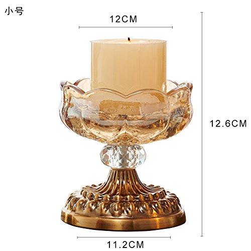 Fkduih Kristall Glas Kerze Kerzenhalter Ornamente Regal layout Requisiten romantisches Candlelight-Dinner europäischen Luxus Hochzeit Kerze, (Candleabra Halloween)
